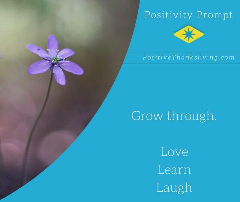 Grow through. Love. Learn. Laugh.