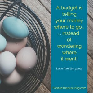 A budget is telling your money where to go