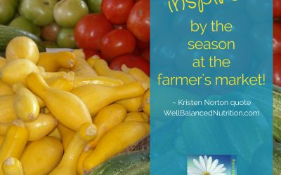 Inspiration to be healthy at the Farmers Market