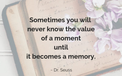 The value of a moment.