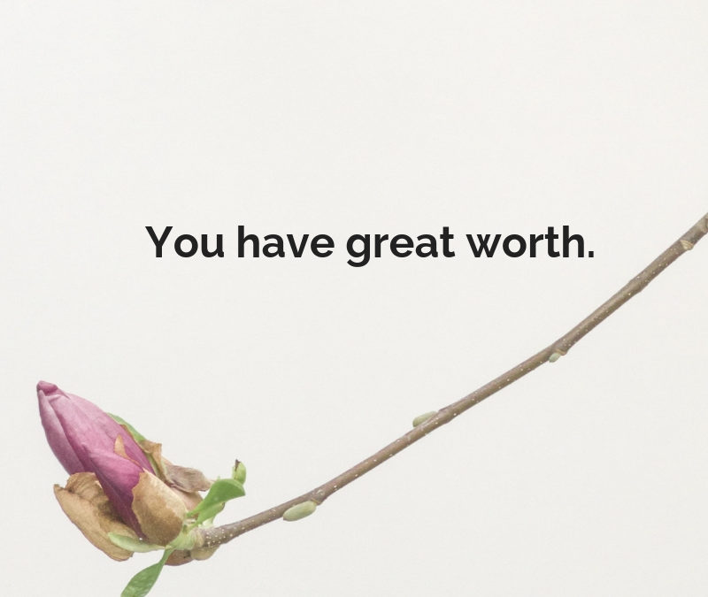 You have great worth.
