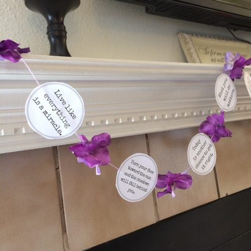 Mother's day gift  for someone special who loves you like a mom - a positivity garland